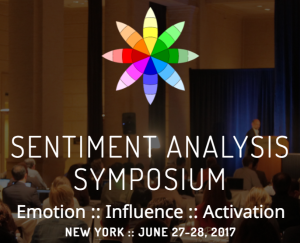 Join us at THE event for consumer, media, social & finance sentiment analysis.