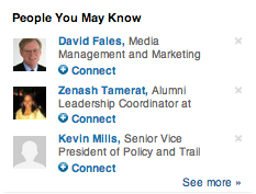 "LinkedIn ""People You May Know"" recommendations"