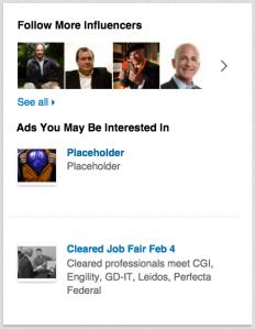 LinkedIn ad placeholder