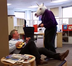 CEO Ingo Mierswa Serenades the RapidMiner Unicorn