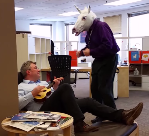 CEO Ingo Mierswa Serenades the RapidMiner Unicorn