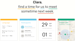 The Clara AI personal assistant.