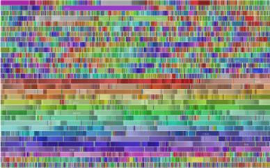 Visualization of Wikipedia editing activity by robot user Pearle. Image by Fernanda B. Viégas.
