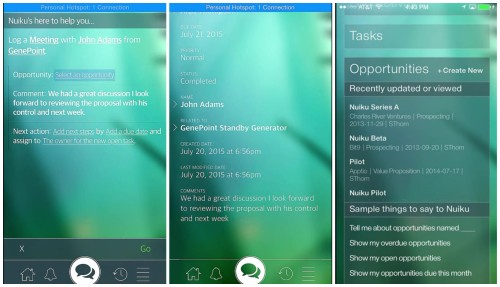 Nuiku app captures -- a structured language application interface