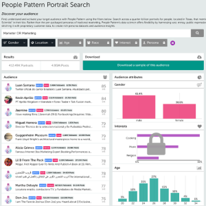 People Pattern portrait search