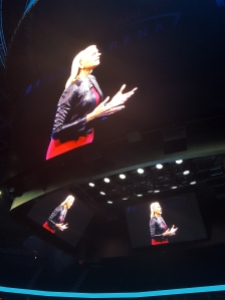 IBM CEO Ginni Rometty, seen center stage at the 2016 World of Watson conference