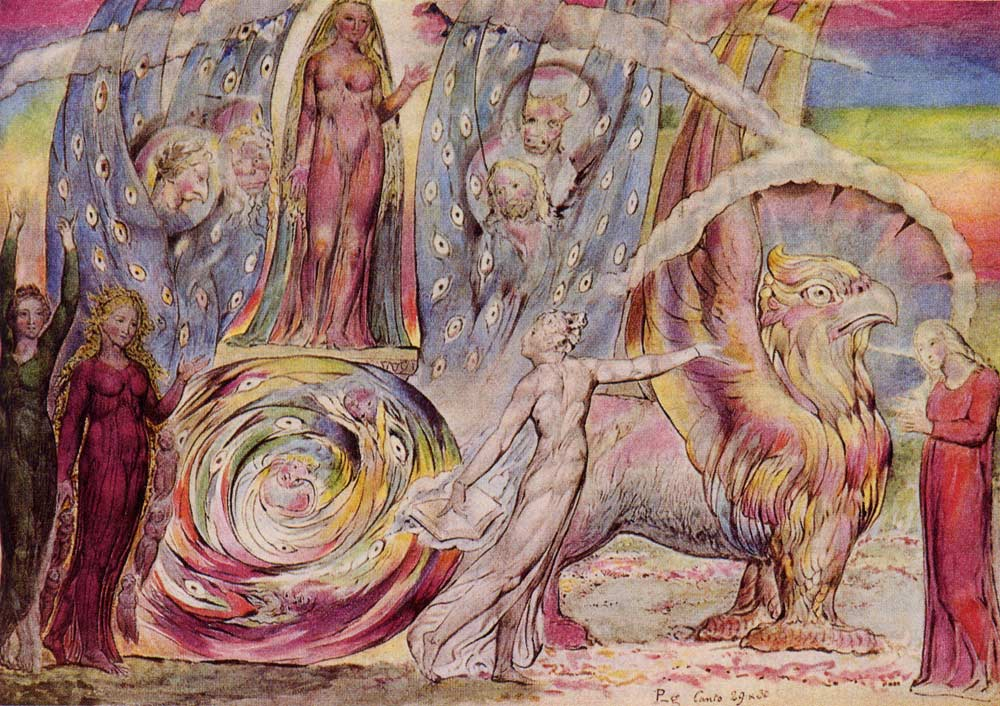 Beatrice Addressing Dante, by William Blake
